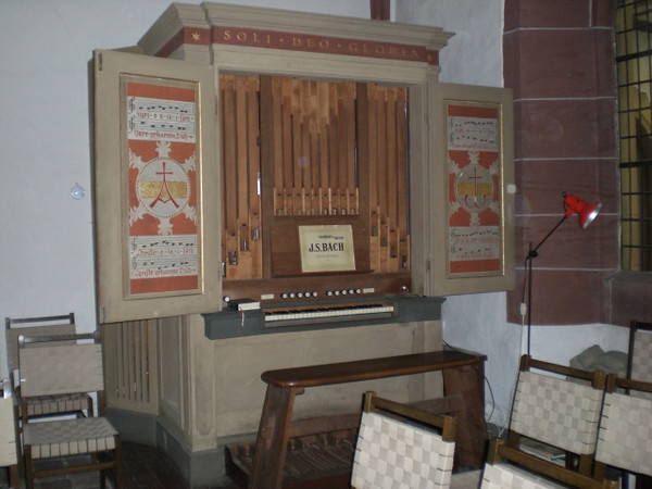 The organ in the winter chapel in the Augustinerkloster.