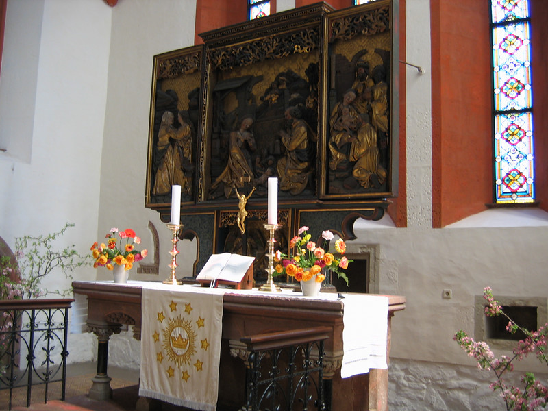 A 13th century altar in Grimma's Frauenkirche.