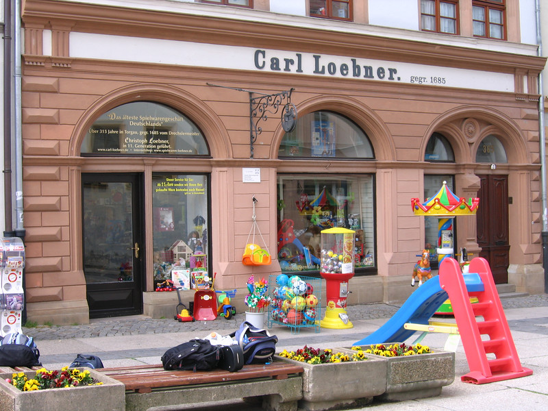 Beyond being an important Reformation site, Torgau is home to the world's oldest toy store -- the same family, for 11 generations now, has operated this toy store for more than 300 years!