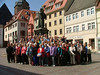 The whole gang posing in front of the statue of Luther located in Eisleben.