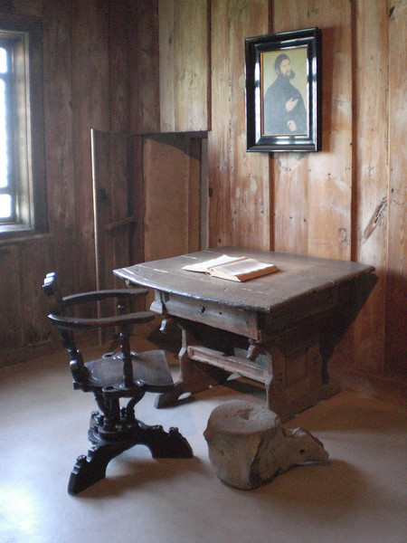 The desk in Castle Wartburg where Martin Luther translated the New Testament into German.