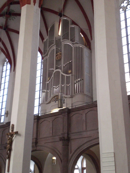 This is the organ Bach played in the Thomaskirche in Leipzig.