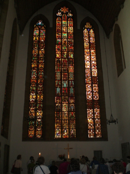 Stained glass windows in the Augustinerkloster.