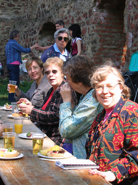 The Lord Mayor of Grimma hosted a lovely luncheon reception for our pilgrim band at the monastery ruins.