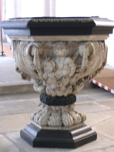 The font at St. Mary's Church, Torgau.