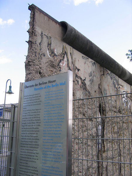 A portion of the Berlin Wall that remains today as a stark reminder.