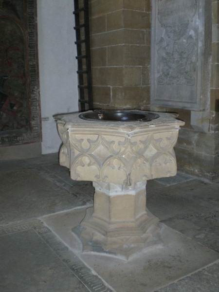 The font in the Augustinerkloster.