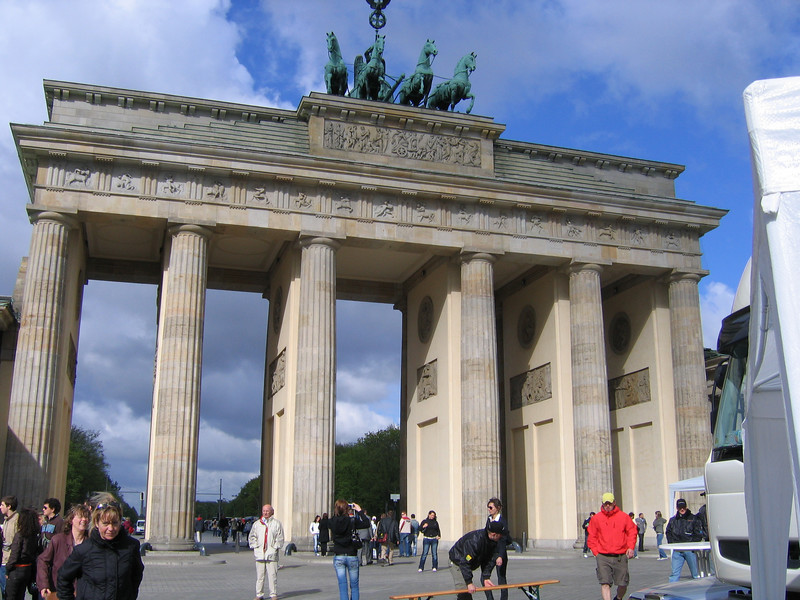 The Brandenburg Gate -- only the royal family could go through the main section in the past -- we all felt royal as we passed through this time.