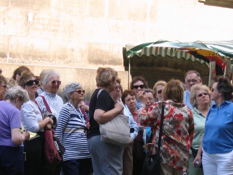 Wednesday's walking tour of Dresden.