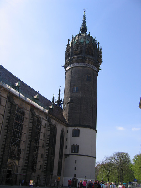 One view of the Castle Church in Wittenberg.