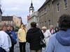St. Mary's Church is seen in the distance here as our tour guide told of Torgau's history dating back about 1,000 years.