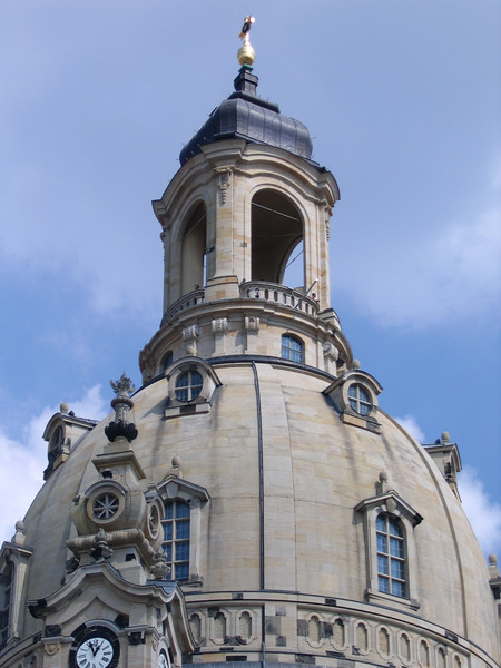 The cross atop the church was created by an Englishman, the son of one who participated in the bombing raid of Dresden. It is a church of peace and reconciliation, an example for the world.
