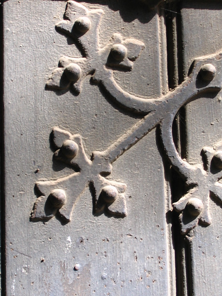 Detail on the entrance door to St. Andrew's church, Eisleben.