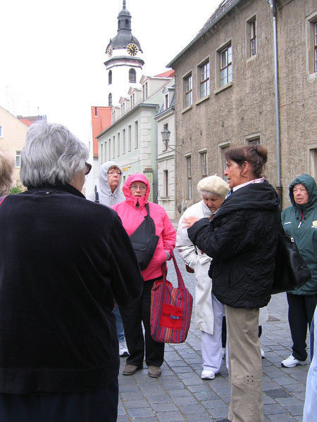 Friday, 20 April 2007. As our photos suggest, we bundled up today to tour Torgau, an important Reformation town and the place where Katie von Bora Luther is buried.