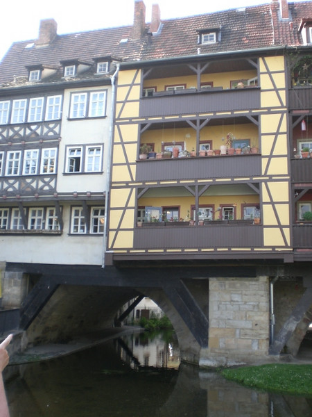 Houses on the bridge at Erfurt.