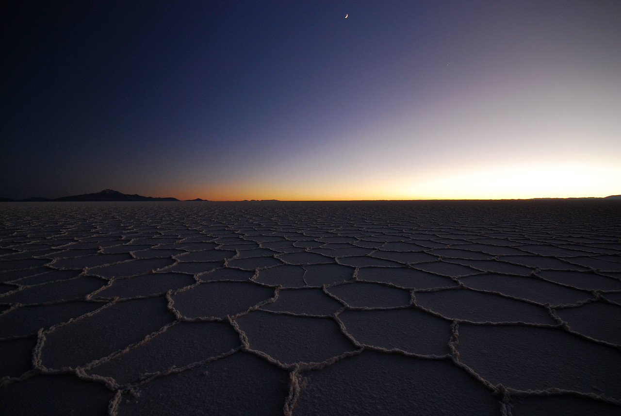 The ever changing light of the Salar de Uyuni. Time 07:39