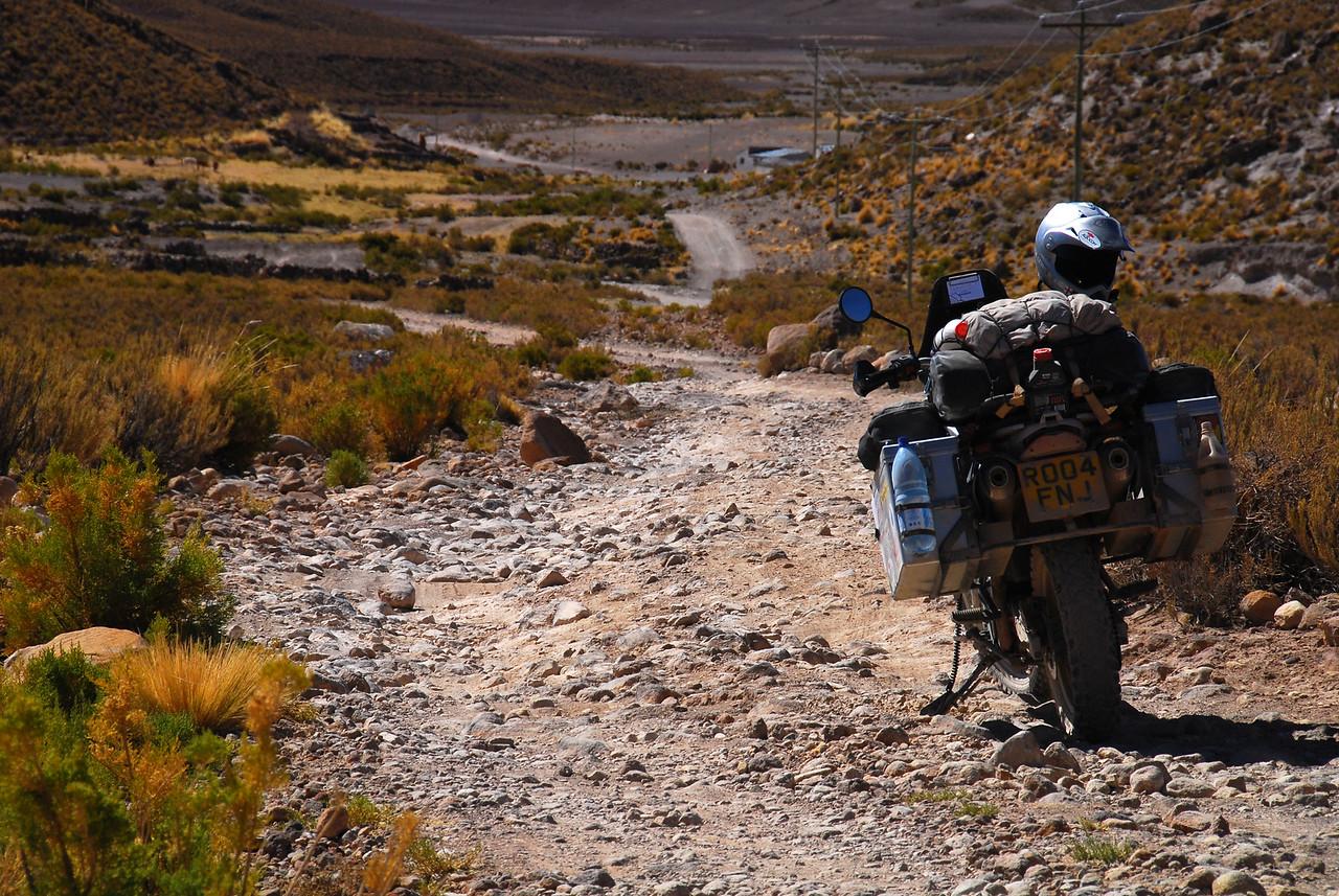 Tahua - Salinas de Garci-Mendoza road
