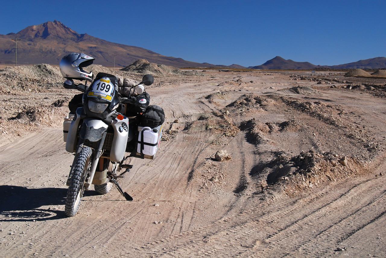 ''Glad it wasn't raining!'' - Salinas de Garci-Mendoza - Huari road