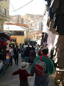 A street in La Paz.