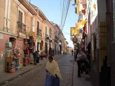 Another street in La Paz.