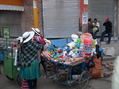 Portable market cart.