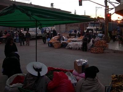 Early morning market.