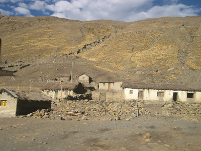 Houses along the road.