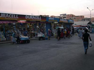 Shopping at the market.