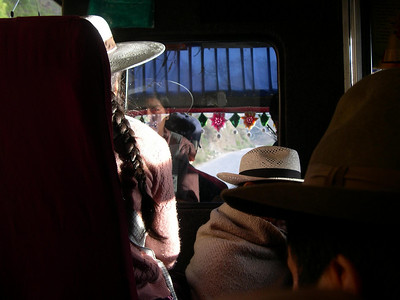 On the bus to Morochata.