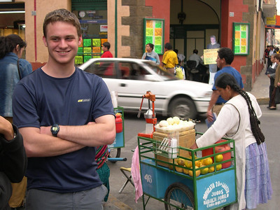 You can get fresh squeezed orange juice anytime from a street vendor.