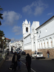 Here you can see the Iglesia de San Francisco.