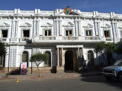 Here you can see the casa de libertad which is located at the Plaza 25 de Mayo.