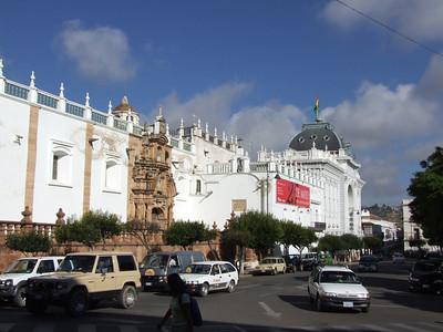 Here, the facade of the Cathedral showing to the Plaza 25 de Mayo.