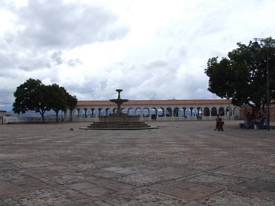 This is the Plaza Anzures from which one can view nicely the roofs of the center of Sucre.