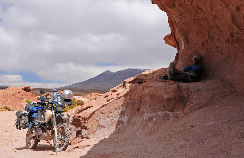 Lunchtime on the Laguna Colorada - Chiguana Road