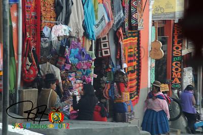 Ladies on the Calle Sagárnaga. La Paz, Bolivia