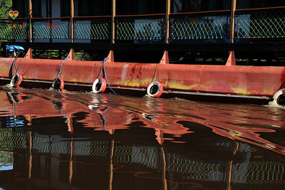 Riverboat reflection