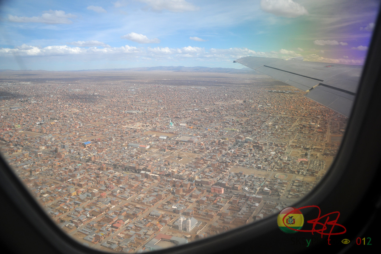 Aerial view of the endless El Alto.