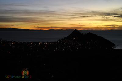Copacabana at sunset.  Lake Titicaca.