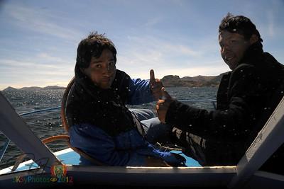 Geraldo y JoseLuiz on deck.