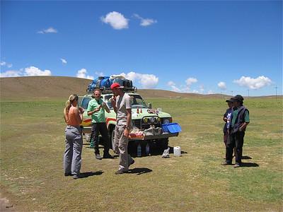 Lunchen met Gerardo en Christina, Bolivia