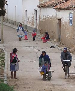 Het straatleven in Tarabuco, Bolivia.