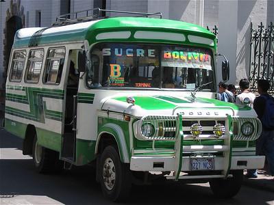 Public transport Sucre, Bolivia.