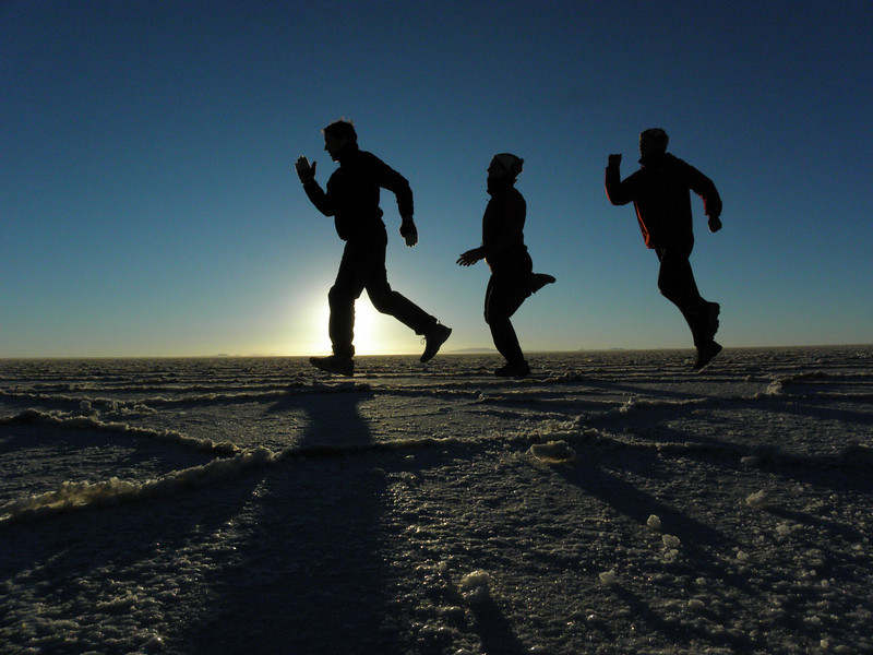 Salar de Uyuni a contraluz