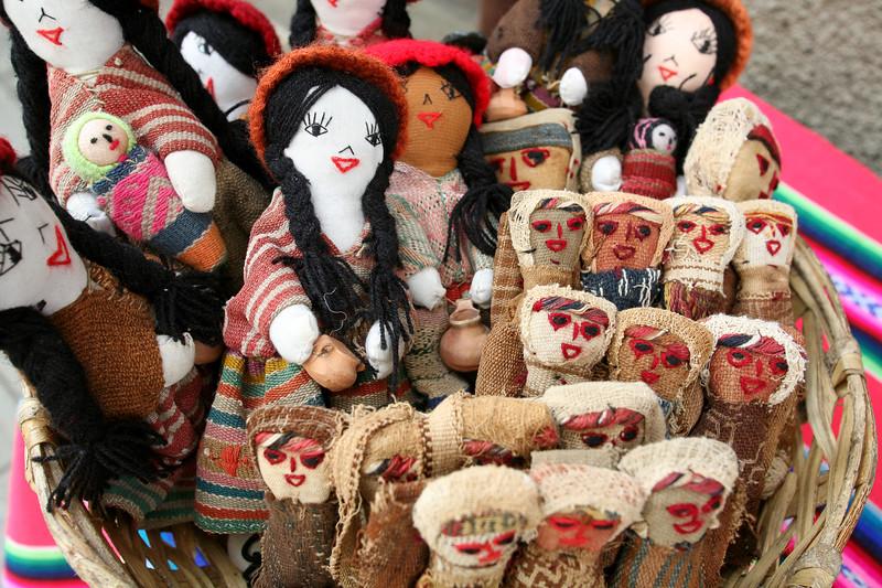 Handmade dolls, La Paz, Bolivia