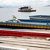 Bus ferry, Tiquina, Bolivia