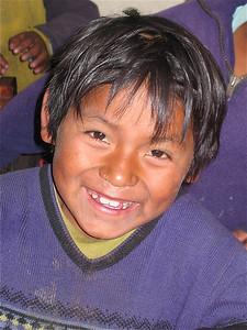 Vrolijk in de klas, Tarabuco, Bolivia.