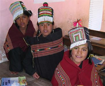3 hartsvriendinnen: Eva, Edelfina en Elizabeth. Molle Mayu, Bolivia.