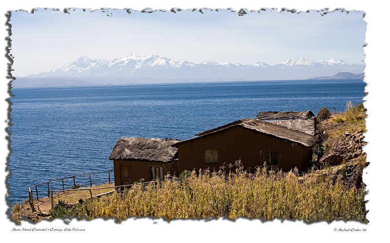 caretaker's house on Moon Island, Lake Titicaca.