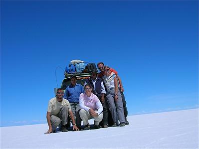 Teamfoto Salar de Uyuni, Bolivia.